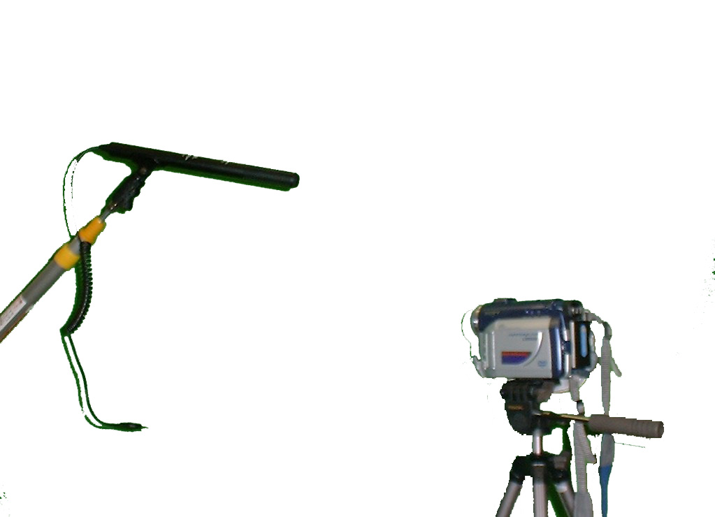 Camera and boom microphone